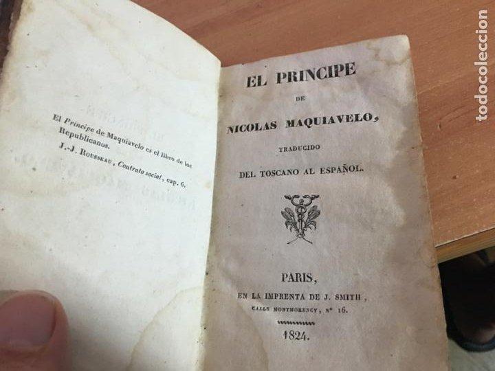 Libros antiguos: EL PRINCIPE DE MAQUIAVELO. AÑO 1824 (COIB153) - Foto 6 - 222643948