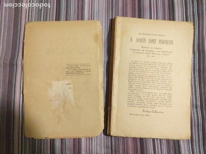 Libros antiguos: 1894 JULIA CODORNIU MIS VERSOS INIQUIDADES DE LA LEY PARA CON LA MUJER CASADA FEMINISMO S. XIX - Foto 4 - 232066215