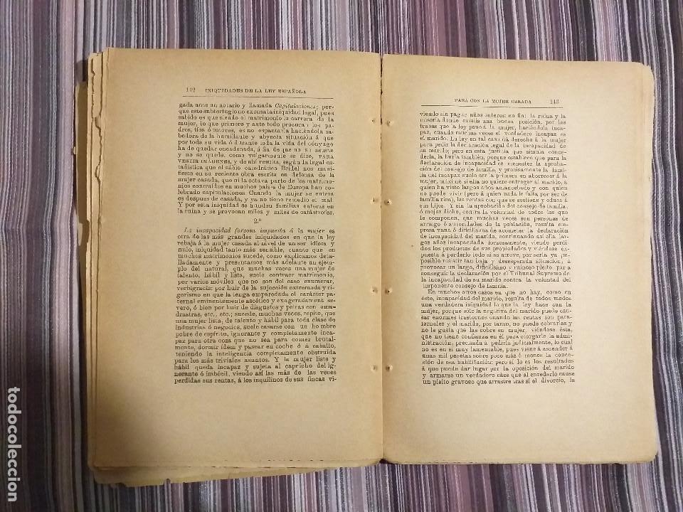 Libros antiguos: 1894 JULIA CODORNIU MIS VERSOS INIQUIDADES DE LA LEY PARA CON LA MUJER CASADA FEMINISMO S. XIX - Foto 6 - 232066215