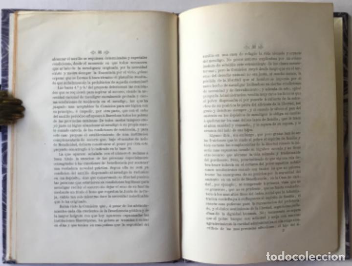 Libros antiguos: EXTINCION DE LA MENDICIDAD. Dictámen presentado á la seccion de ciencias morales del Ateneo... - Foto 4 - 244477960