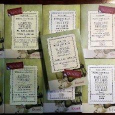 Libros antiguos: 11 LIBROS RELATIVOS AL FOLCLORE ESPAÑOL. TRADICIONES ESPAÑOLAS. ANTONIO MACHADO Y ÁLVAREZ, DEMÓFILO. Lote 248515670