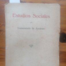 Libros antiguos: ESTUDIOS SOCIALES. GUMERSINDO DE AZCÁRATE. SUC. M. MINUESA DE LOS RÍOS. MADRID, 1933.. Lote 254140885