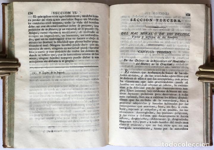 Libros antiguos: MORAL UNIVERSAL Ó DEBERES DEL HOMBRE FUNDADOS EN SU NATURALEZA. - HOLBACH, Paul Henri Dietrich, baró - Foto 4 - 123201064