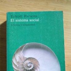 Libros antiguos: EL SISTEMA SOCIAL - TALCOTT PARSONS. Lote 268724019