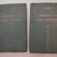 Libros antiguos: 2X LIBROS CONFERENCIAS PARA SEÑORAS 1928 COMPLETA 15X18CM. Lote 276912373