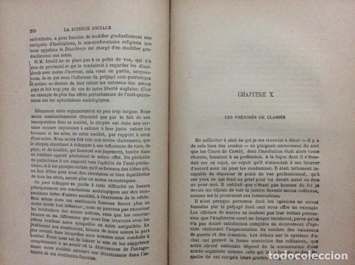 Libros antiguos: Introduction a la science sociale. Herbert Spencer, 1894 - Foto 5 - 284723708