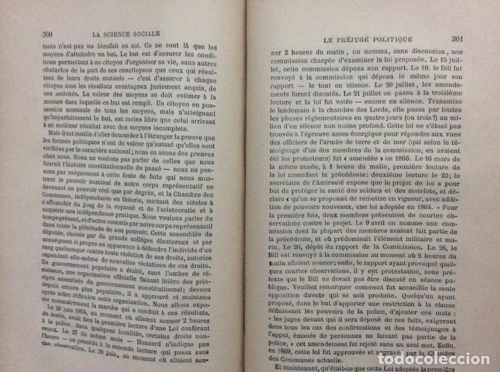 Libros antiguos: Introduction a la science sociale. Herbert Spencer, 1894 - Foto 6 - 284723708