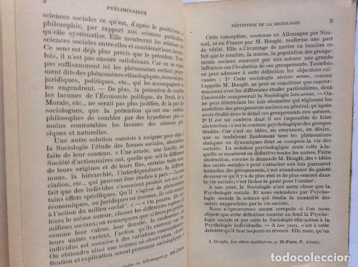 Libros antiguos: Précis de sociologie. Par G. Palante, Félix Alcan, 1901. 1.ª edicion - Foto 5 - 285439908