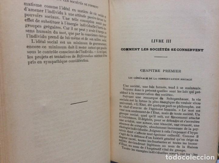 Libros antiguos: Précis de sociologie. Par G. Palante, Félix Alcan, 1901. 1.ª edicion - Foto 6 - 285439908