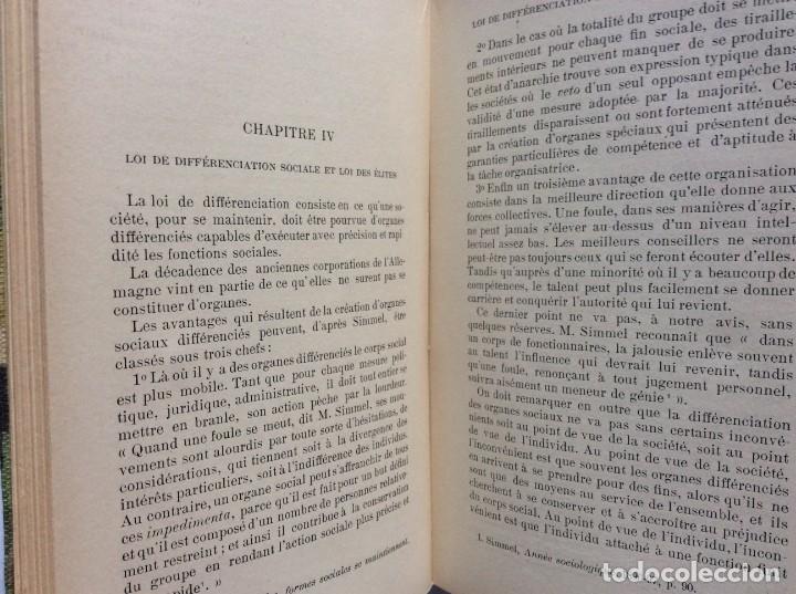 Libros antiguos: Précis de sociologie. Par G. Palante, Félix Alcan, 1901. 1.ª edicion - Foto 7 - 285439908