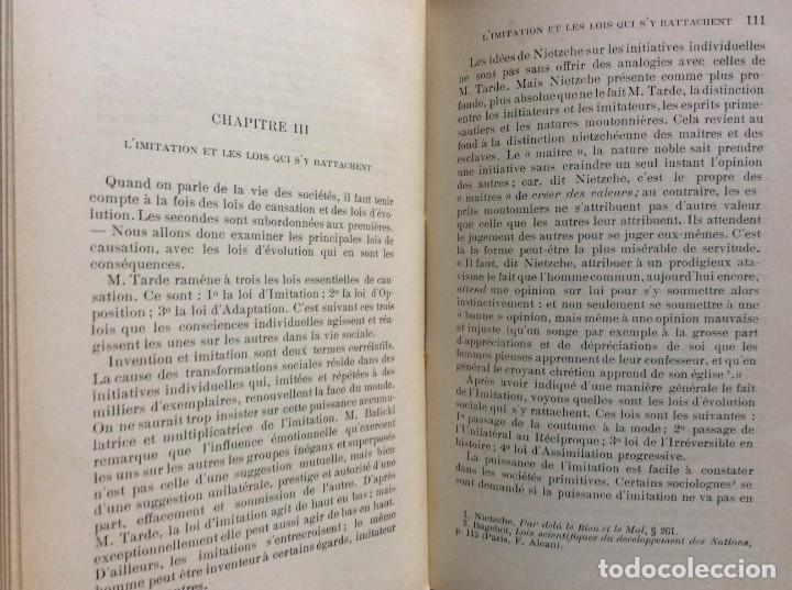 Libros antiguos: Précis de sociologie. Par G. Palante, Félix Alcan, 1901. 1.ª edicion - Foto 9 - 285439908