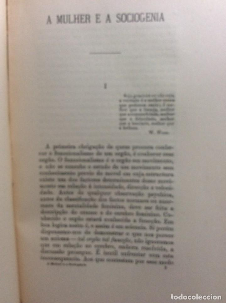 Libros antiguos: Livio de Castro - A mulher e a sociologia, obra póstuma publicada..1893. En portugués. Muy escaso - Foto 4 - 286315903
