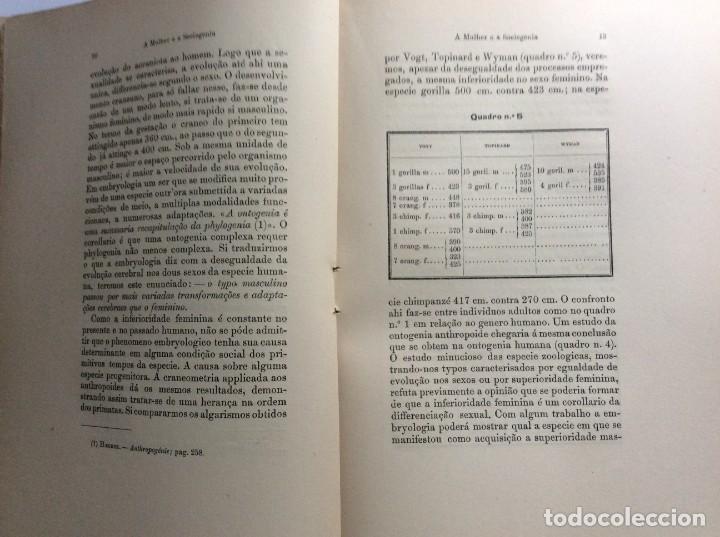 Libros antiguos: Livio de Castro - A mulher e a sociologia, obra póstuma publicada..1893. En portugués. Muy escaso - Foto 5 - 286315903