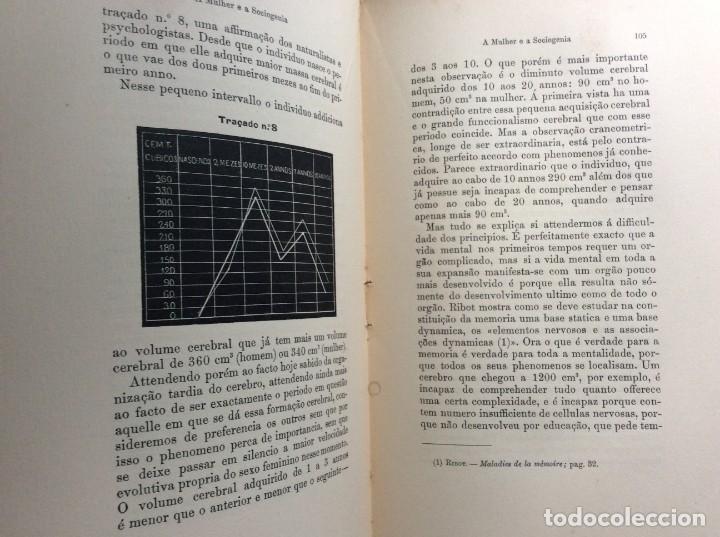 Libros antiguos: Livio de Castro - A mulher e a sociologia, obra póstuma publicada..1893. En portugués. Muy escaso - Foto 6 - 286315903