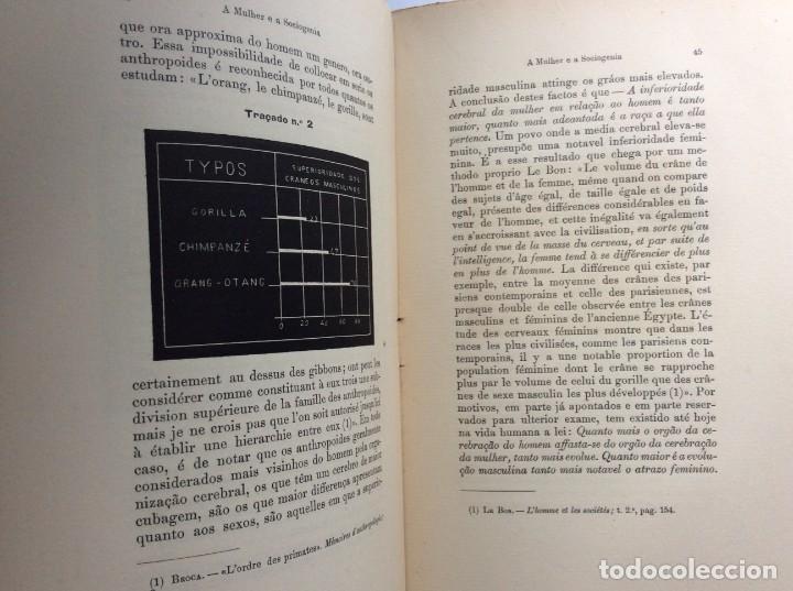 Libros antiguos: Livio de Castro - A mulher e a sociologia, obra póstuma publicada..1893. En portugués. Muy escaso - Foto 7 - 286315903