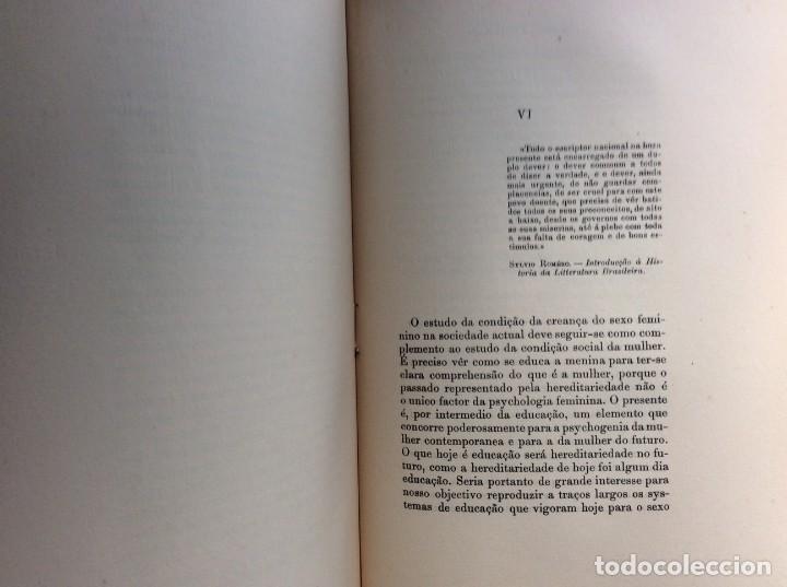 Libros antiguos: Livio de Castro - A mulher e a sociologia, obra póstuma publicada..1893. En portugués. Muy escaso - Foto 8 - 286315903