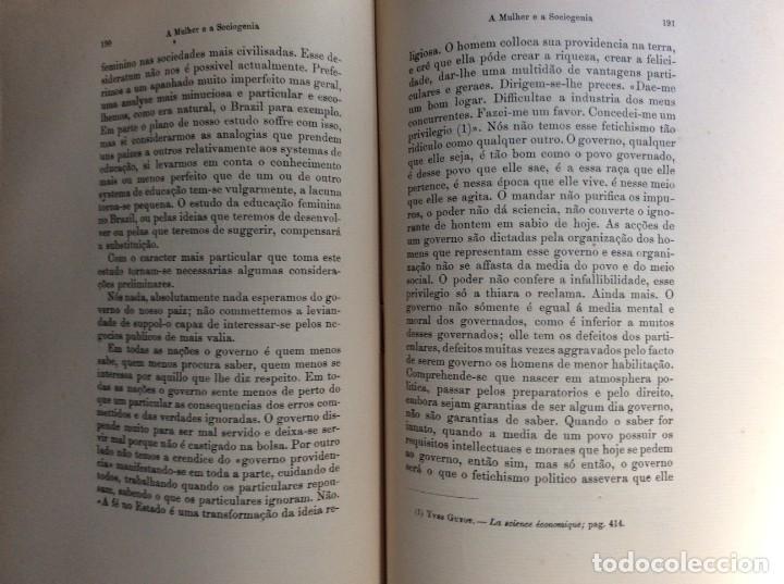 Libros antiguos: Livio de Castro - A mulher e a sociologia, obra póstuma publicada..1893. En portugués. Muy escaso - Foto 9 - 286315903