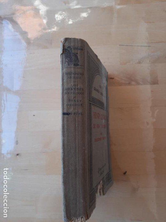 Libros antiguos: Los Grandes Sociologos-Henry George,su vida y su obra por Baldomero Argente - Foto 2 - 286895488
