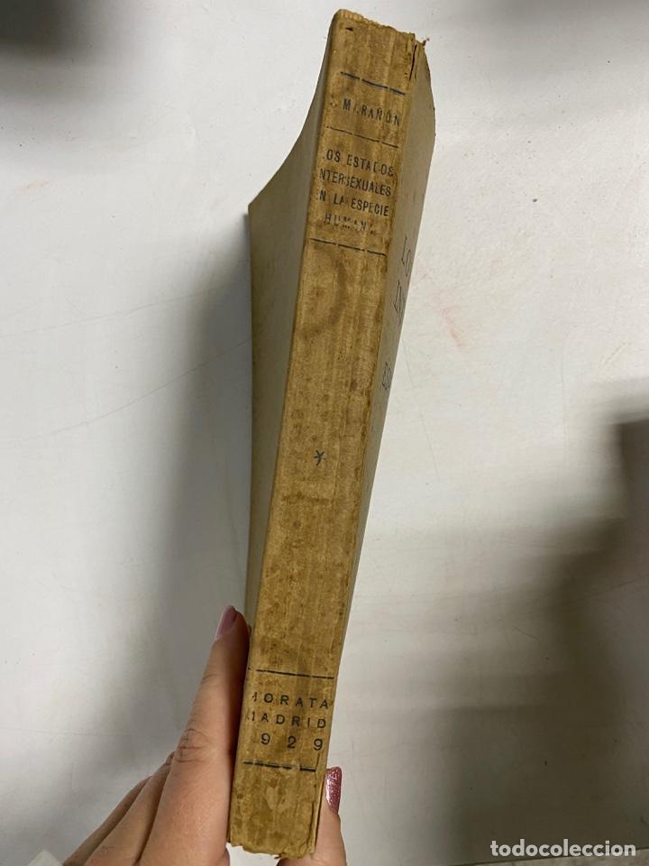 Libros antiguos: LOS ESTADOS INTERSEXUALES EN LA ESPECIE HUMANA. G. MARAÑON. JAVIER MORATA EDITOR. MADRID,1929. - Foto 2 - 288598953