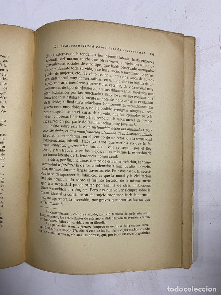 Libros antiguos: LOS ESTADOS INTERSEXUALES EN LA ESPECIE HUMANA. G. MARAÑON. JAVIER MORATA EDITOR. MADRID,1929. - Foto 5 - 288598953