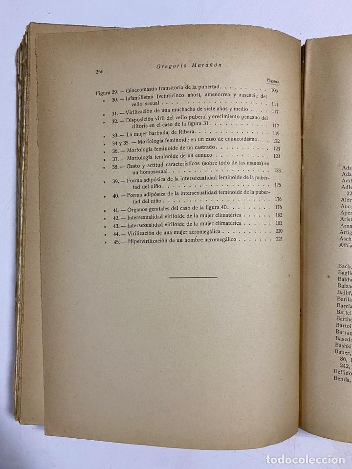 Libros antiguos: LOS ESTADOS INTERSEXUALES EN LA ESPECIE HUMANA. G. MARAÑON. JAVIER MORATA EDITOR. MADRID,1929. - Foto 7 - 288598953