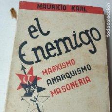 Libros antiguos: EL ENEMIGO. Lote 293546668