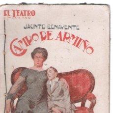 Libros antiguos: CAMPO DE ARMIÑO DE JACINTO BENAVENTE. EL TEATRO MODERNO, 1916. Lote 18632653