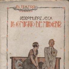 Libros antiguos: EL CONFLICTO DE MERCEDES. PEDRO MUÑOZ SECA. EL TEATRO MODERNO Nº 28. AÑO 1926. Lote 20738083