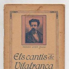 Libros antiguos: TEATRO. FREDERIC SOLER. (PITARRA). ELS CANTIS DE VILAFRANCA. COMEDIA EN UN ACTE.. Lote 11854579