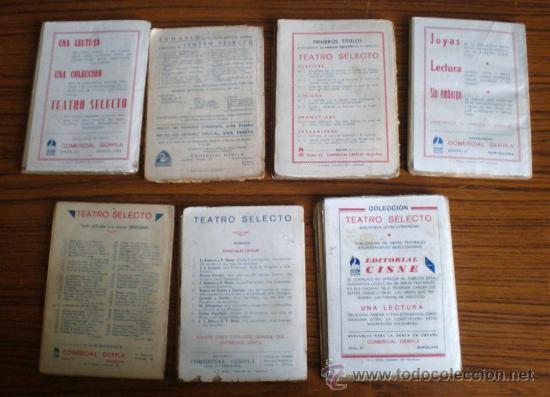 Libros antiguos: 7 libros teatro selecto . López de Vega . Guillen de Castro .. Juan E, Hartzenbusch . Ruiz de Alarco - Foto 2 - 20869041