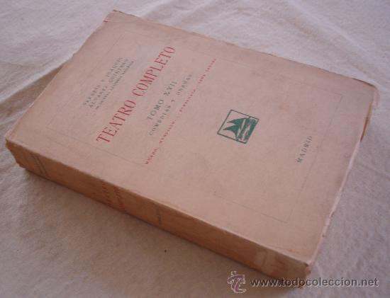 Libros antiguos: Teatro completo, Tomo XVII, anexo - Foto 2 - 23735960