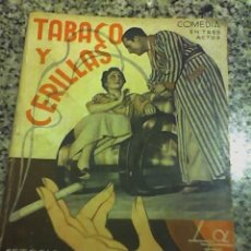Libros antiguos: TABACO Y CERILLAS, DE ANTONIO PASO Y E. F. GUTIÉRREZ ROIG - LA FARSA Nº 434 - ESPAÑA. Lote 17639838