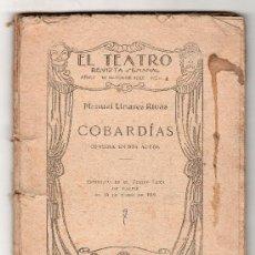 Libros antiguos: EL TEATRO REVISTA SEMANAL AÑO I. 10 OCTUBRE 1925 Nº 2. COBARDIAS POR MANUEL LINARES RIVAS. Lote 18450353