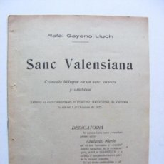 Libros antiguos: TEATRO, SAINET, SANC VALENSIANA, RAFAEL GAYANO LLUCH. Lote 18924468