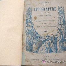 Libros antiguos: ALMANACH DE LA LITTERATURE DU TEATRE ET DES BEAUX-ARTS 1855 TEXTO EN FRANCES . Lote 27422137