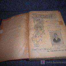 Libros antiguos: L´ESCON FOLLETIN TEATRO TARRAGONA - AÑOS 1906-1918 EN UN VOL. ILUSTRADO.. Lote 27507977
