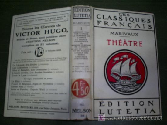 THÉÂTRE. TOME PREMIER NELSON EDITEURS C. 1930 MARIVAUX RN45148 (Libros antiguos (hasta 1936), raros y curiosos - Literatura - Teatro)