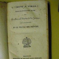 Libros antiguos: 1837 MUERETETE ¡ Y VERAS...! MANUEL BRETON DE LOS HERREROS. Lote 26164794