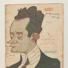 Libros antiguos: LA NOVELA TEATRAL Nº 318. LA CASETA DE LA FERIA POR J. FERNÁNDEZ DEL VILLAR. AÑO 1922.. Lote 22053282