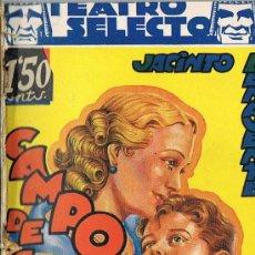 Libros antiguos: TEATRO SELECTO, CAMPO DE ARMIÑO, JACINTO BENAVENTE. Lote 23452059