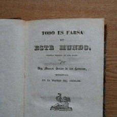 Libros antiguos: TODO ES FARSA EN ESTE MUNDO. LOS HIJOS DE EDUARDO. BRETÓN DE LOS HERREROS (MANUEL). Lote 25068954