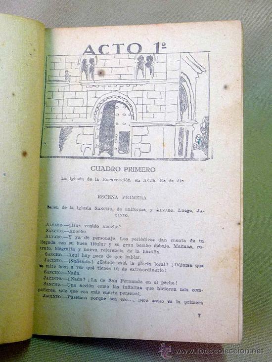 Libros antiguos: OBRA DE TEATRO, EN 3 ACTOS, SANCHO AVENDAÑO, MANUEL LINARES RIVAS, DRAMA, 1933, Nº 305, LA FARSA - Foto 4 - 25092161
