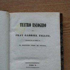 Libros antiguos: TEATRO ESCOGIDO. TOMO X. POR EL SÓTANO Y EL TORNO. EL VERGONZOSO EN PALACIO. LA VENGANZA DE TAMAR.. Lote 25101986