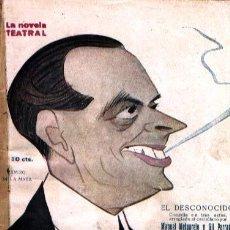Livros antigos: EL DESCONOCIDO COMEDIA DE MANUEL MELGAREJO Y GIL PARRADO CARICATURA DE RAMIRO DE LA MATA. Lote 25380335