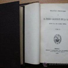 Libros antiguos: TEATRO ESCOGIDO. EDICIÓN DE LA REAL ACADEMIA ESPAÑOLA. CALDERÓN DE LA BARCA (PEDRO). Lote 25599504