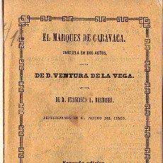 Libros antiguos: OPERA ITALIANA 1871 -EL MARQUES DE CARAVACA. Lote 25966317