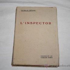 Libros antiguos: 1361. 'L'INSPECTOR' DE NICOLAI GÒGOL. TRAD. DE CARLES RIBA EDITORIAL CATALANA, 1919?. Lote 27487799