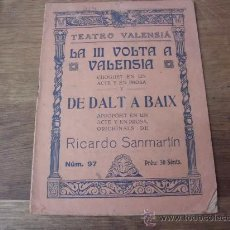 Alte Bücher - La tercera III Volta a Valensia, de dalt a Baix, Ricardo San Martín, Teatro Valensiá, 1928. P-22 - 27488344