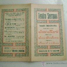 Livros antigos: TEATRO SERRANO.COMPAÑIA COMICO DRAMATICA JOSE MARTI.107. Lote 28148563