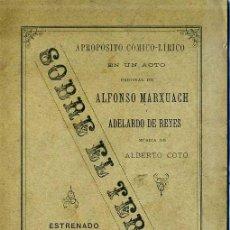 Livres anciens: A. MARXUACH Y A. DE REYES : SOBRE EL TERRENO (1892) . Lote 28380873